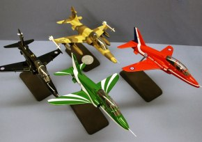 Various Hawks in different liveries at 1:48 scale