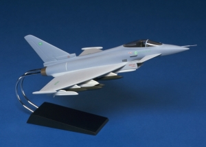 Eurofighter Typhoon model at 1:48 scale in RSAF livery
