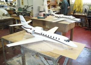 1:10th Scale Cessna Citation in the workshop - Lea Design