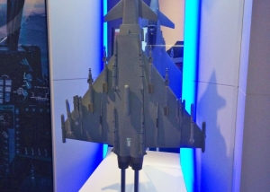 1:12 scale Eurofighter Typhoon on the BAE Systems stand FIA 2014