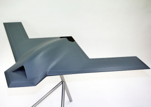FCAS UAV on a display stand