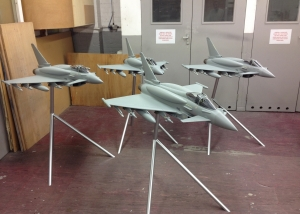 4 x 1:12 scale Eurofighter Typhoons with conformal fuel tanks - BAE Systems