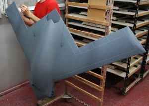 FCAS UAV Exhibition Model - In the paint shop