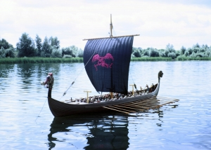 "12 feet long Viking Ship Model for the film ""Longships"""