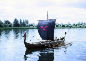 "12 feet long Viking Ship Model for the film ""Longships"" - Columbia Pictures"