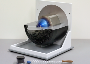 Injector demonstrator model with detergent wand and carbon deposits - Shell Research